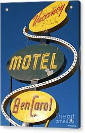 Ben Carroll Motel Acrylic Print