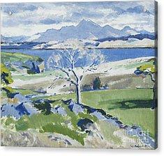 Ben Cruachan From Achnacraig Acrylic Print by Francis Campbell Boileau Cadell
