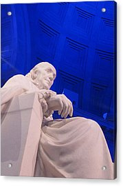 Ben Franklin In Blue II Acrylic Print by Richard Reeve