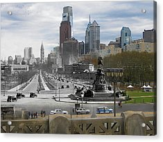 Ben Franklin Parkway Acrylic Print