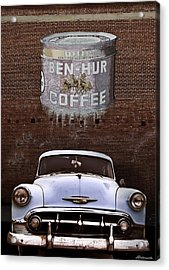 Ben Hur Coffee Acrylic Print by Larry Butterworth