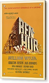 Ben Hur Movie Poster Acrylic Print by Mountain Dreams