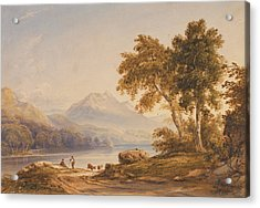 Ben Vorlich And Loch Lomond Acrylic Print by Anthony Vandyke Copley Fielding