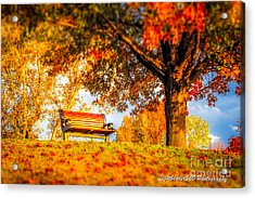 Bench Break Acrylic Print