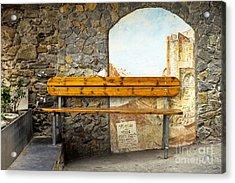 Bench In Riomaggiore Acrylic Print