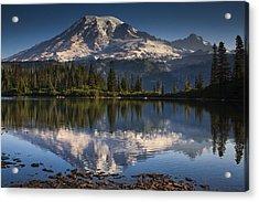 Bench Lake Sunrise Acrylic Print by Mark Kiver