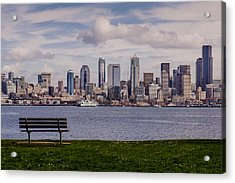 Bench With A View Acrylic Print