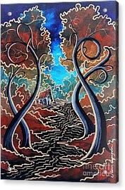 Bending Time Acrylic Print by Steven Lebron Langston