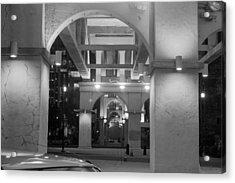 Acrylic Print featuring the photograph Beneath The Bridge At Night by Robert Hebert