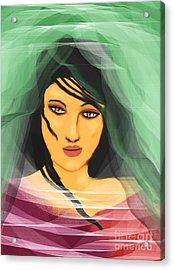 Beneath The Layers Acrylic Print by Hilda Lechuga