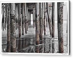Beneath The Pier Acrylic Print by Richard Bean