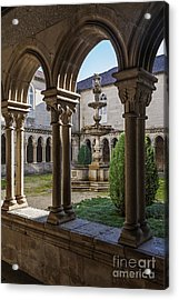 Benedictine Gothic Cloister Acrylic Print by Jose Elias - Sofia Pereira