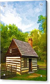 Acrylic Print featuring the photograph Benjamin Banneker Cabin by Dana Sohr
