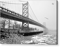 Benjamin Franklin Bridge Acrylic Print