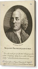 Benjamin Franklin Acrylic Print