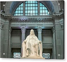 Benjamin Franklin Acrylic Print by John Greim/science Photo Library