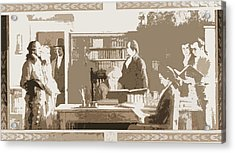 Benjamin Franklin Opening First Subscription Library Acrylic Print