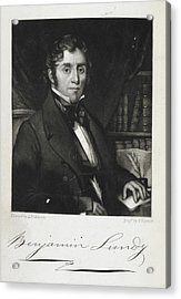 Benjamin Lundy Acrylic Print by British Library