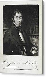 Benjamin Lundy Acrylic Print by British Library