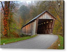 Bennett Mill Covered Bridge Acrylic Print by Jack R Perry