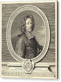 Benoît Audran I After Joseph Vivien, French 1661-1721 Acrylic Print