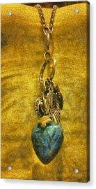 Bensen Turquoise Heart Acrylic Print by Lorri Crossno