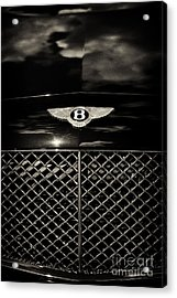 Bentley Continental Gt Sepia Acrylic Print by Tim Gainey