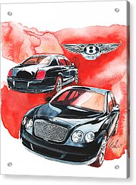 Bentley Continental Acrylic Print by Yoshiharu Miyakawa