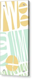 Bento 1- Abstract Shape Painting Acrylic Print by Linda Woods