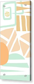 Bento 3- Abstract Shapes Art Acrylic Print by Linda Woods