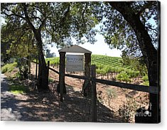 Benziger Winery In The Sonoma California Wine Country 5d24592 Acrylic Print by Wingsdomain Art and Photography