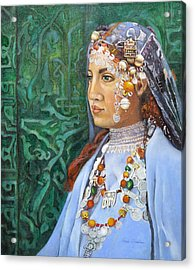Berber Woman Acrylic Print by Enzie Shahmiri