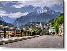 Berchtesgaden Road And Mountain Acrylic Print by Ioan Panaite