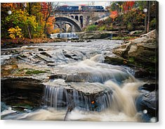 Berea Waterfalls In Autumn Acrylic Print