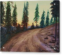 Acrylic Print featuring the painting Bergebo Forest by Martin Howard