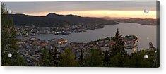 Bergen Sunset Panorama Acrylic Print by Benjamin Reed