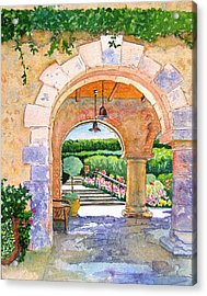 Beringer Winery Archway Acrylic Print by Gail Chandler