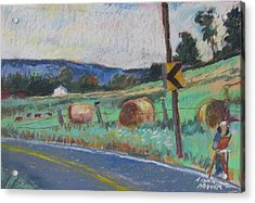 Acrylic Print featuring the painting Berkshire Mountain Painter by Linda Novick