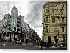 Berlin - Checkpoint Charlie Acrylic Print by Gregory Dyer