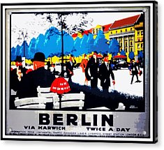 Berlin 1925 Acrylic Print by Unknown