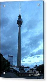Berlin - Berliner Fernsehturm - Radio Tower No.02 Acrylic Print by Gregory Dyer