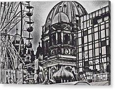 Acrylic Print featuring the photograph Berlin Christmas Market by Cassandra Buckley