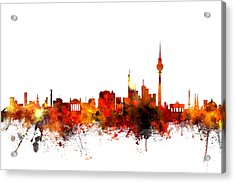 berlin germany skyline digital art by michael tompsett. Black Bedroom Furniture Sets. Home Design Ideas