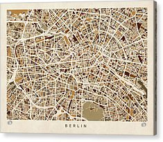 Berlin Germany Street Map Acrylic Print