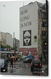 Berlin - How Long Is Now Acrylic Print by Gregory Dyer