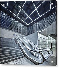 Berlin Potsdamer Platz With Escalator Acrylic Print by Ricowde