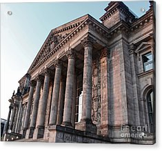 Berlin - Reichstag - Front - 02 Acrylic Print by Gregory Dyer