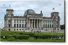 Berlin - Reichstag Front Acrylic Print by Gregory Dyer