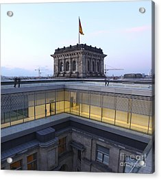 Berlin - Reichstag Roof - No.04 Acrylic Print by Gregory Dyer