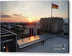 Berlin - Reichstag Roof - No.07 Acrylic Print by Gregory Dyer